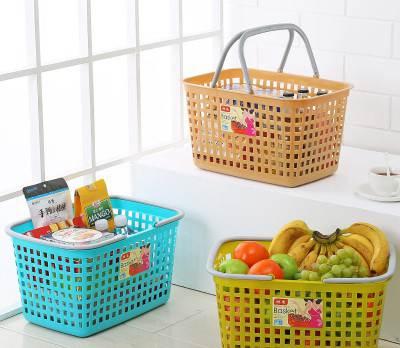 小号大号超市购物篮塑料手提篮